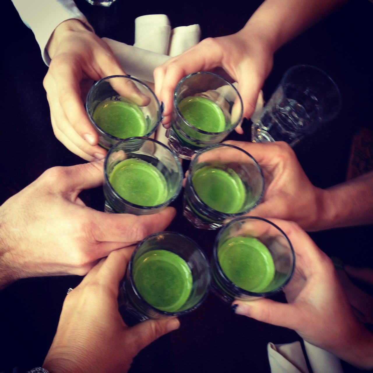 The Green Shot wheatgrass party