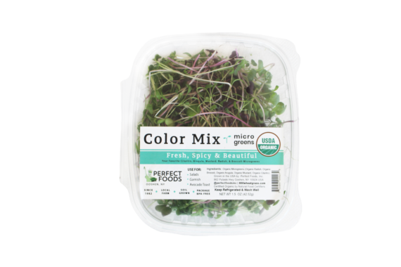 color mix microgreens clamshell