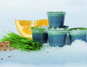 frozen wheatgrass juice